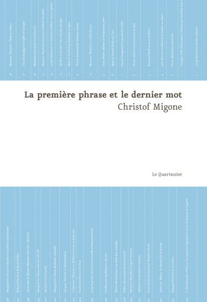 ChristofMigone_lapremierephraseetlederniermot_cover